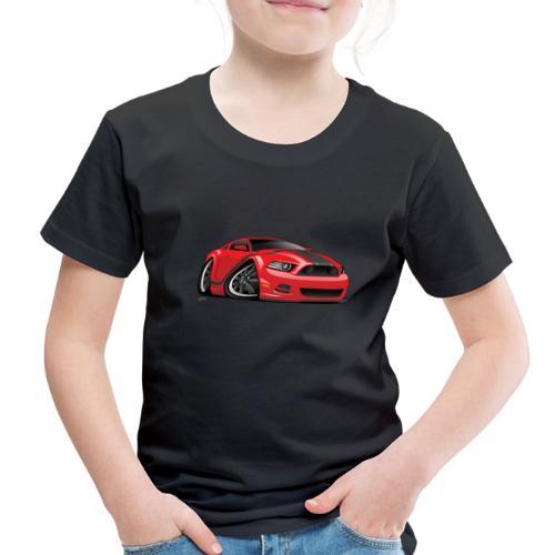 American Muscle Car Cartoon Illustration - Toddler Premium T-Shirt