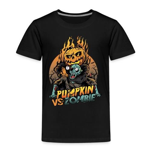 Pumpkin vs Zombie - Toddler Premium T-Shirt