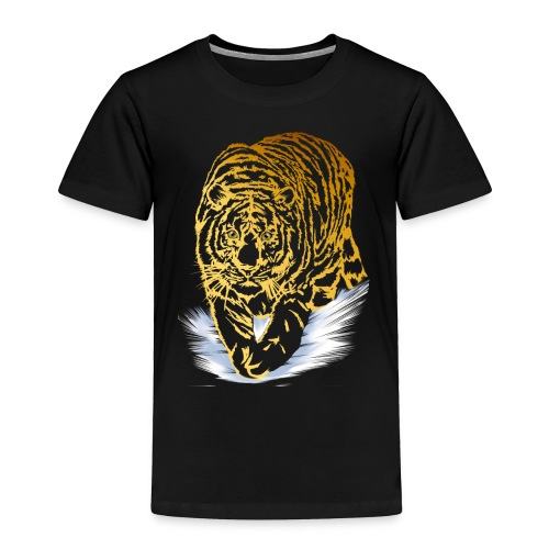 Golden Snow Tiger - Toddler Premium T-Shirt