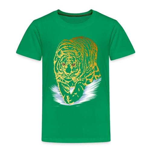 Golden Snow Tiger - Toddler Premium T-Shirt