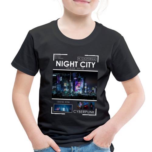 Night City Pacifica Skyline - Toddler Premium T-Shirt