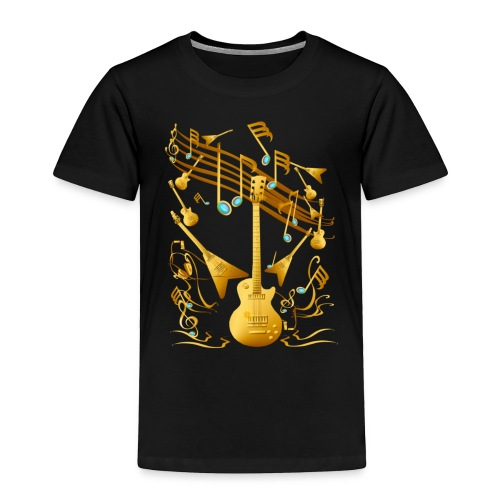 Gold Guitar Party - Toddler Premium T-Shirt