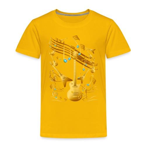 Gold Guitar Party - Toddler Premium T-Shirt