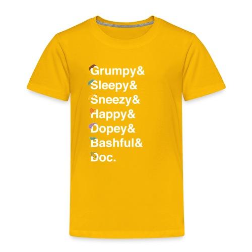 dwarfswhite - Toddler Premium T-Shirt