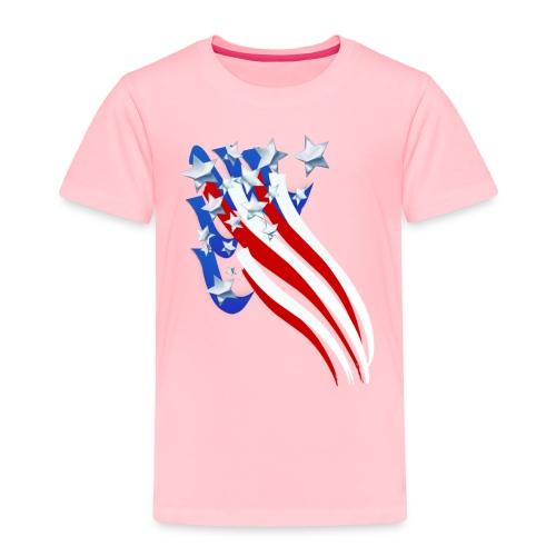 Sweeping Old Glory - Toddler Premium T-Shirt