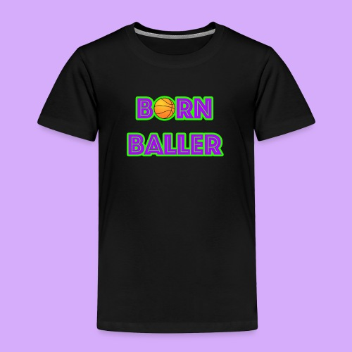 bornballerlogosmall png - Toddler Premium T-Shirt