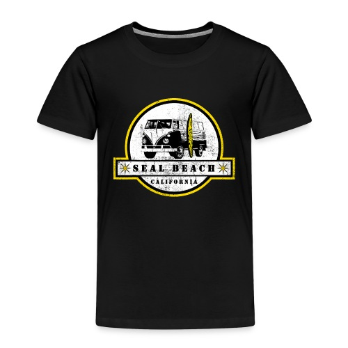 Seal Beach California Hippie Van Shirt Surfer - Toddler Premium T-Shirt
