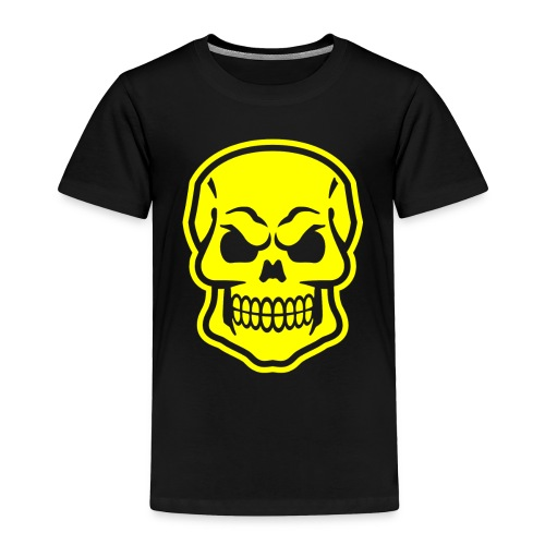 Skull vector yellow - Toddler Premium T-Shirt