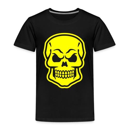 Skull vector yellow - Toddler Premium T-Shirt