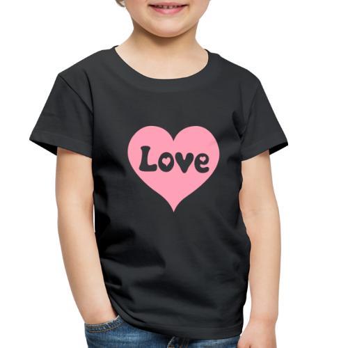 Love Heart - Toddler Premium T-Shirt