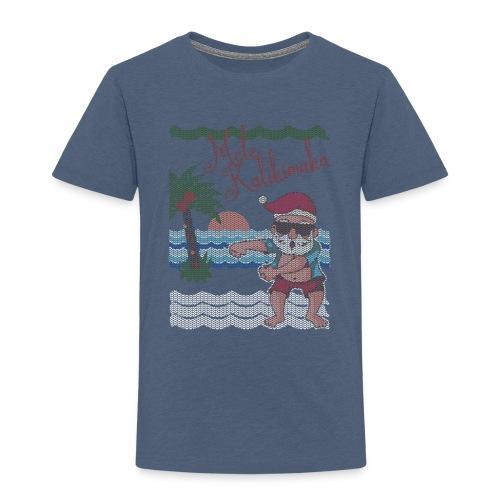 Ugly Christmas Sweater Hawaiian Dancing Santa - Toddler Premium T-Shirt
