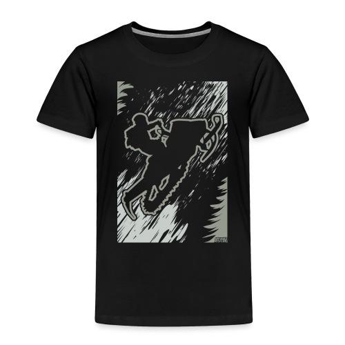 Snowmobiling Forest Run - Toddler Premium T-Shirt