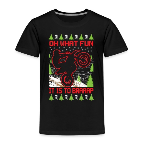 Ugly Christmas Motocross - Toddler Premium T-Shirt