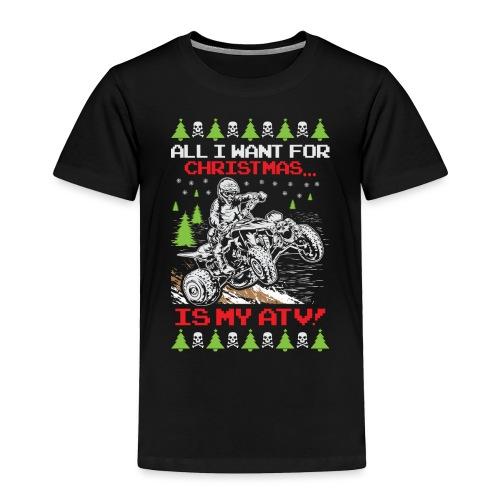 Ugly Christmas ATV Quad - Toddler Premium T-Shirt