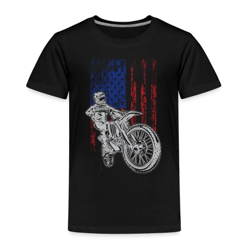 Motocross USA Race Rider - Toddler Premium T-Shirt