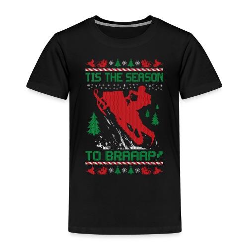 Snowmobile Ugly Christmas - Toddler Premium T-Shirt