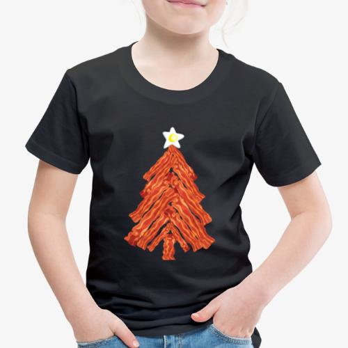 Funny Bacon and Egg Christmas Tree - Toddler Premium T-Shirt