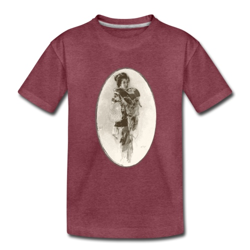 Antique Geisha Design - Japanese Girl Art - Toddler Premium T-Shirt
