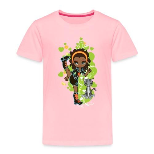 Aisha the African American Chibi Girl - Toddler Premium T-Shirt