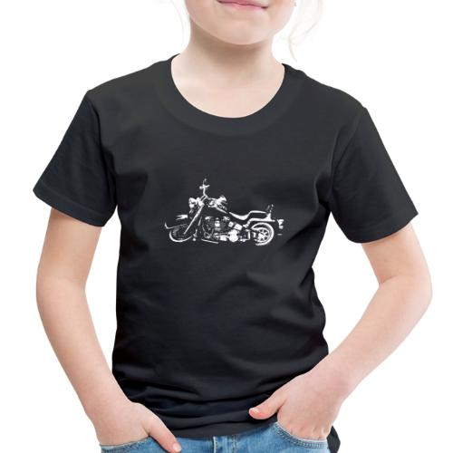 Classic American Motorcycle Abstract - Toddler Premium T-Shirt