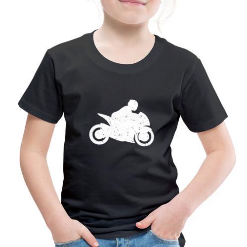 Super Sport Bike Motorcycle Rider Distressed - Toddler Premium T-Shirt