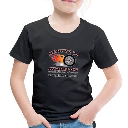 ScottysHubcaps Logo wWebsite WhiteOutline - Toddler Premium T-Shirt