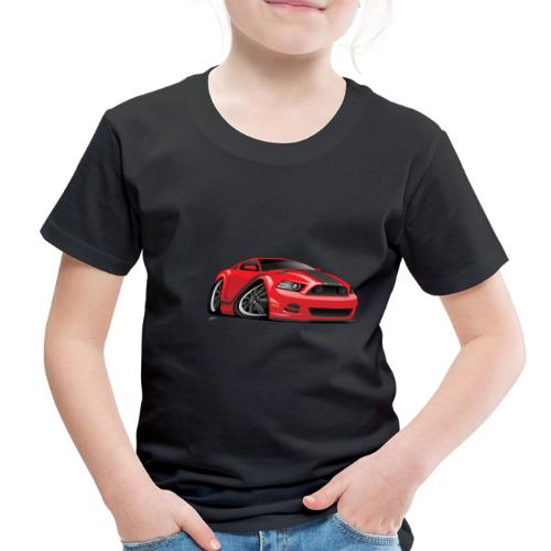American Muscle Car Cartoon Illustration - Toddler Premium T-Shirt