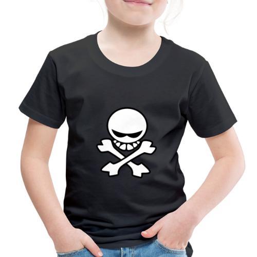Cartoon Skull - Toddler Premium T-Shirt