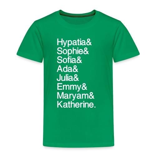 Women in Mathematics (no space before &) - Toddler Premium T-Shirt