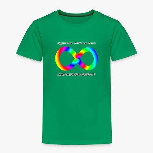 Embrace Neurodiversity with Swirl Rainbow - Toddler Premium T-Shirt