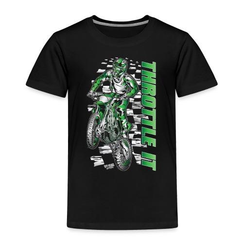 Motocross Throttle It Kawasaki - Toddler Premium T-Shirt