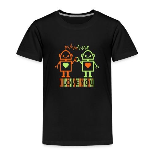 Robot Couple - Toddler Premium T-Shirt