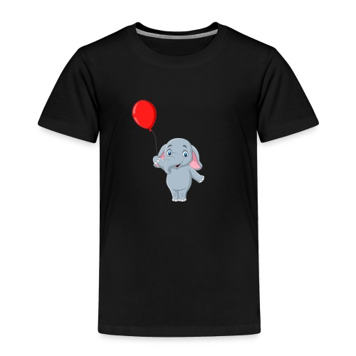 Baby Elephant Holding A Balloon - Toddler Premium T-Shirt