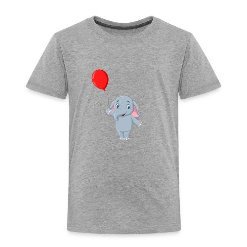 Baby Elephant Holding A Balloon - Toddler Premium T-Shirt