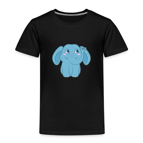 Baby Elephant Happy and Smiling - Toddler Premium T-Shirt