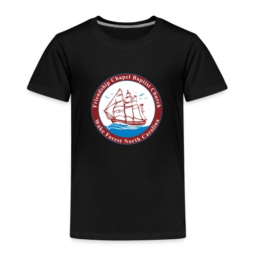 ship art burgundy blue 3 - Toddler Premium T-Shirt