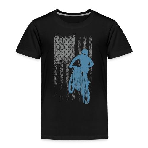 Motocross USA Biker - Toddler Premium T-Shirt