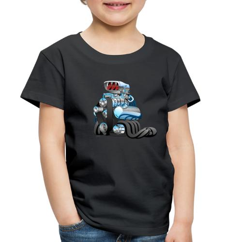 Hotrod Racing Car Engine Cartoon Illustration - Toddler Premium T-Shirt