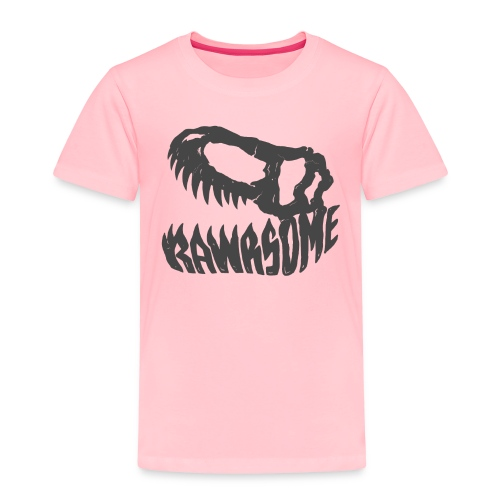 RAWRsome T Rex Skull by Beanie Draws - Toddler Premium T-Shirt