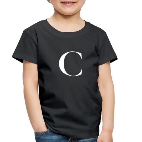 Large Cliche Magazine White C Logo - Toddler Premium T-Shirt
