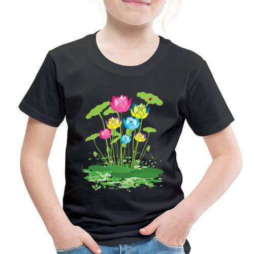 colorful waterlilies flowers - Toddler Premium T-Shirt