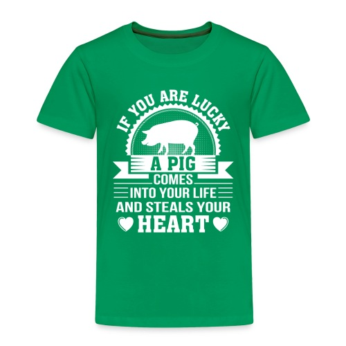 Mini Pig Comes Your Life Steals Heart - Toddler Premium T-Shirt