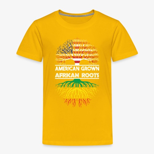 American Grown With African Roots T-Shirt - Toddler Premium T-Shirt