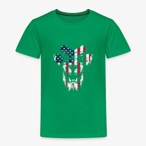 Lovely American Lion USA Flag Silhouette Portrait - Toddler Premium T-Shirt