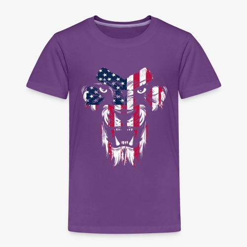 American Flag Lion - Toddler Premium T-Shirt