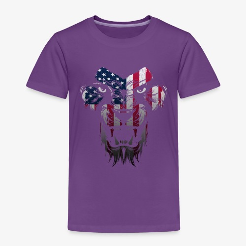 American Flag Lion Shirt - Toddler Premium T-Shirt