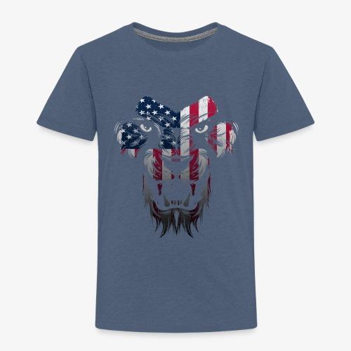 American Flag Lion Shirt - Toddler Premium T-Shirt
