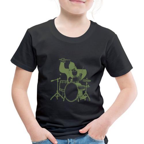 GORILLA PLAYING ON DRUMS - Toddler Premium T-Shirt