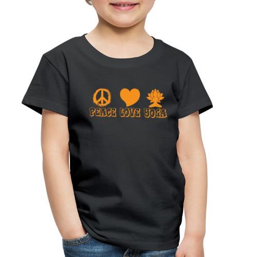 Peace Love Yoga - Toddler Premium T-Shirt