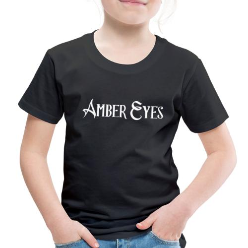 AMBER EYES LOGO IN WHITE - Toddler Premium T-Shirt